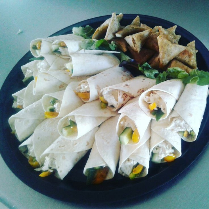 Chicken and mayo wraps!