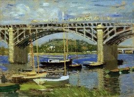 Monet Bilder Seinebrücke bei Argenteuil