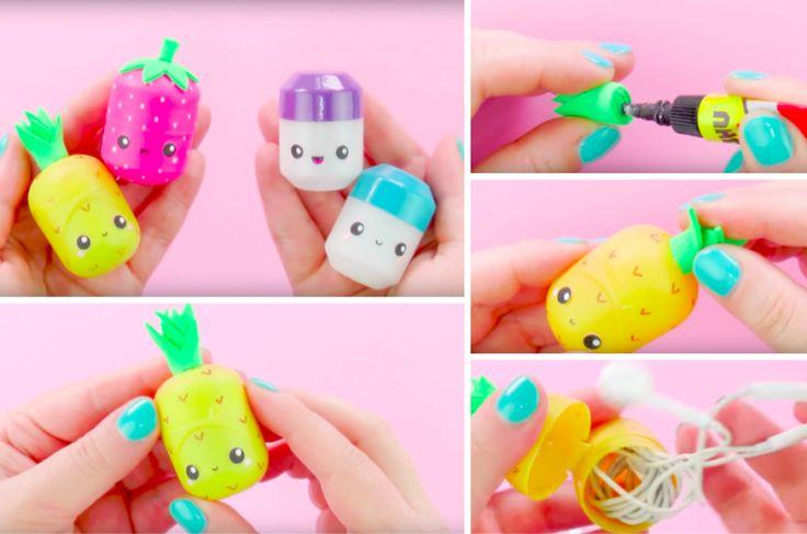 Un adorable moyen de recycler les œufs Kinder en boite pour vos écouteurs