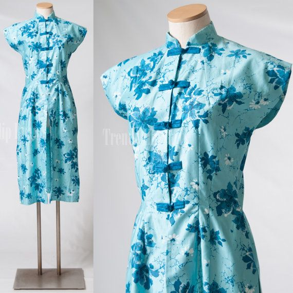 Vintage 60s dress outfit 60s Turquoise by TrendyHipBuysVintage