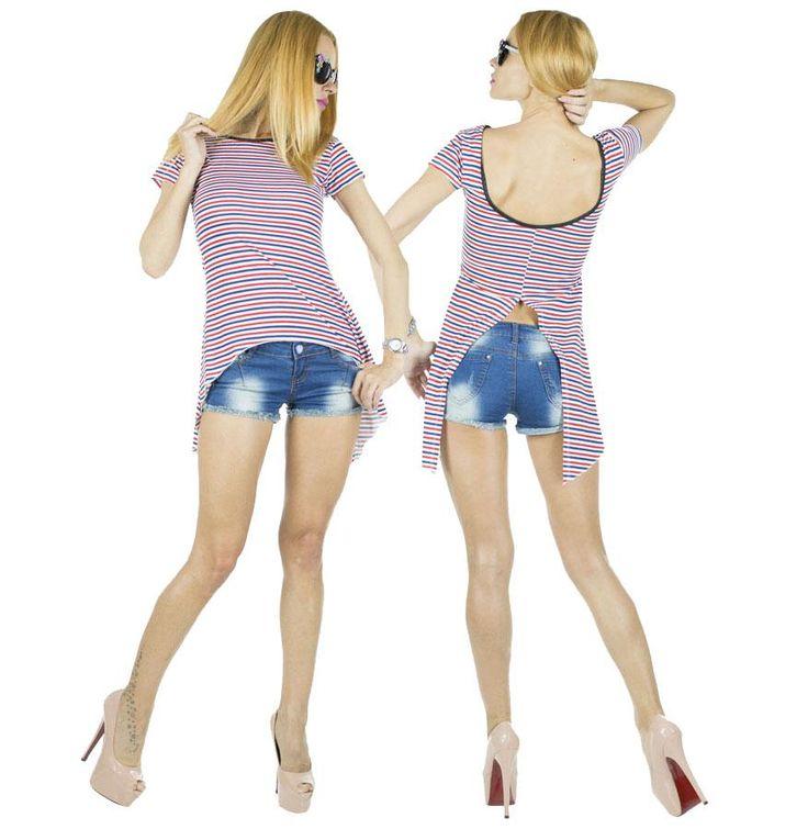 Tricou Dama Coco White  -Tricou dama  -Model ce cade lejer pe corp si poate fi purtat cu usurinta  -Detaliu spate gol     Latime talie:35cm  Lungime:55cm  Lungime colt:85cm  Compozitie:100%Bumbac