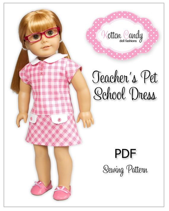 PDF Sewing Pattern for 18 Inch American Girl Dolls by KottonCandyPatterns, $4.27    Just bought it.   Can't wait to make.