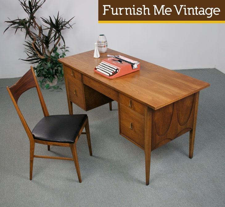 Refinished Mid Century Modern Broyhill Brasilia Desk