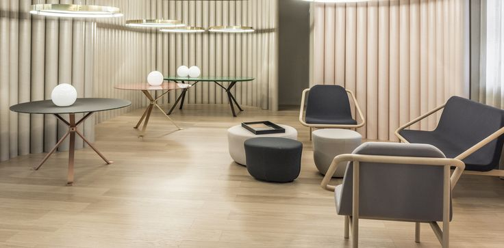 Reflection tables , Bague sofa and armchairs, Cup pouf