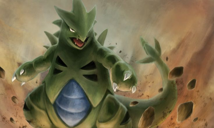 FISSURE by Nepharus.deviantart.com on @deviantART (Tyranitar) Not a big fan of rock types, but I do like tyranitar