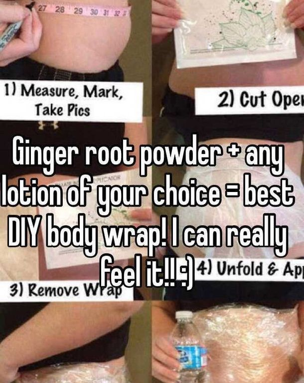 Use This Ginger Coated Stomach Wrap To Reduce Your ...
