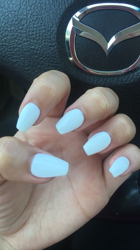 Short White Coffin Nails Perfect For Any Season Are You Looking For Short Coffin Acrylic Nail With Images Acrylic Nails Coffin Short Cute Acrylic Nails Homecoming Nails