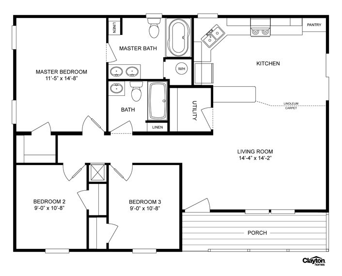 clayton homes home floor plan homes modular homes mobile homes you can move  entrance over and add another bedroom next to the other two. 5 Bedroom Modular Homes  4 Bedroom Modular Homes Nc  Home Plans
