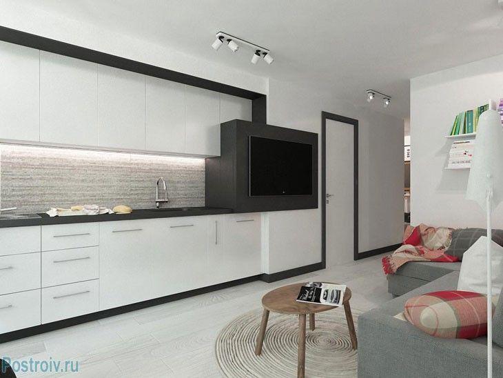 Белый цвет расширяет пространство. Планировка 2-комнатной квартиры. Фото