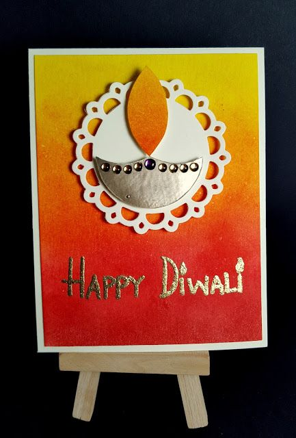 Completely Handmade......: Diwali Cards - Day 1