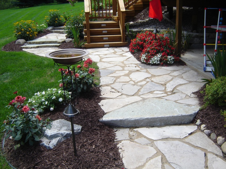 Flagstone Patios And Walkways : Images about flagstone patios on pinterest