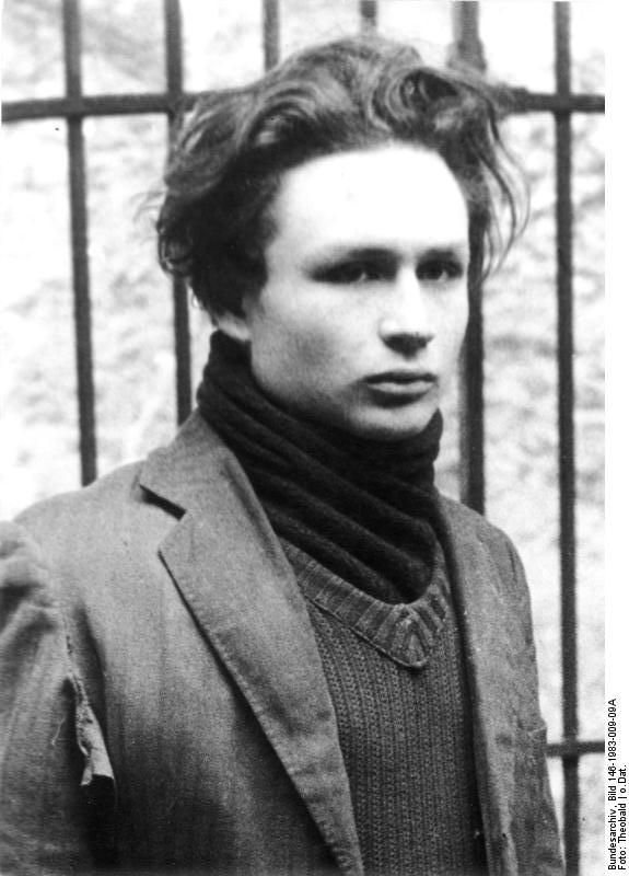 Polish Jew Marcel Rayman, member of the French resistance, after being arrested by Germans, 1943-1944.