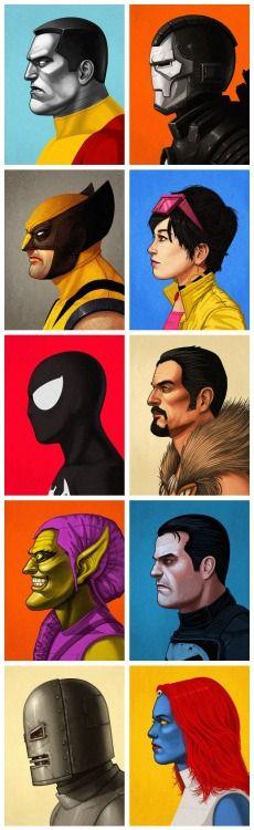 Uma galerinha da Marvel.