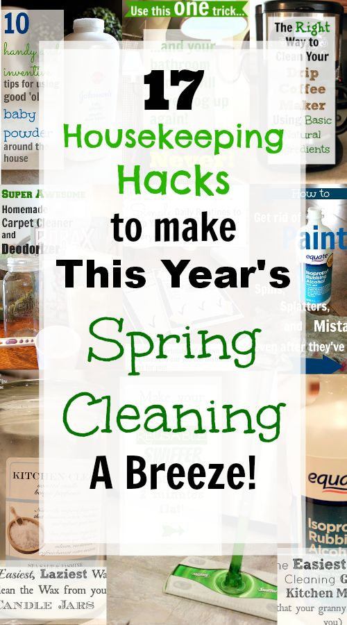 Some favorite tricks to help you along with your Spring Cleaning this year! Lots of good ones!