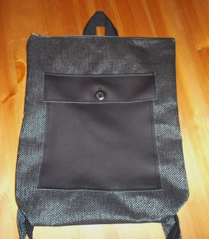 Unique Handmade Black/Silver Backpack by TheOldSchoolProject on Etsy