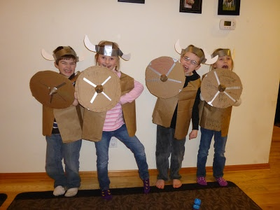 Viking Party.  viking hat how-to