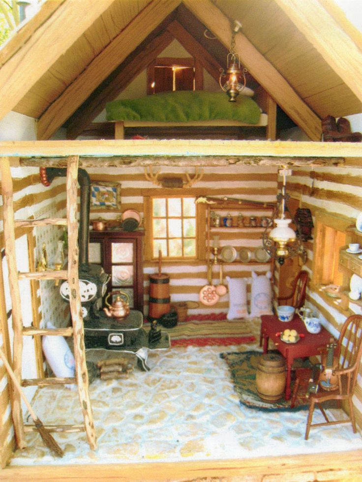 17 Best Ideas About Cabin Dollhouse On Pinterest Roof