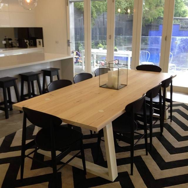 Love Seeing Client Photos Like This Striking Custom Dining Room Rug By Jemden Interiors