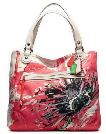 My new precious: Coach Poppy Placed Flower Glam Tote Bag