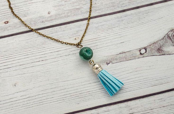 Ketten lang - Achat Halskette - Quaste Halskette - ein Designerstück von cityzencharms bei DaWanda