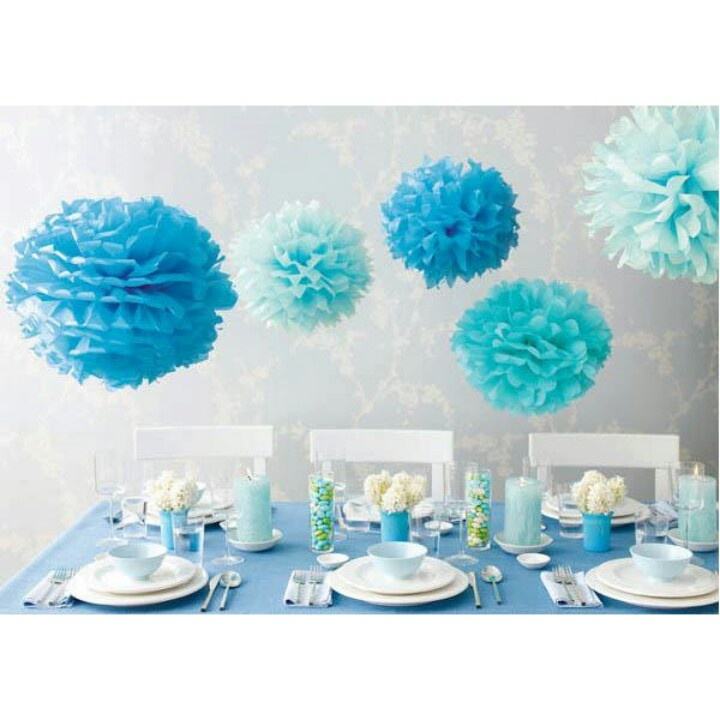 Hanging decoration for baby boy baby shower party for Baby boy shower decoration kits