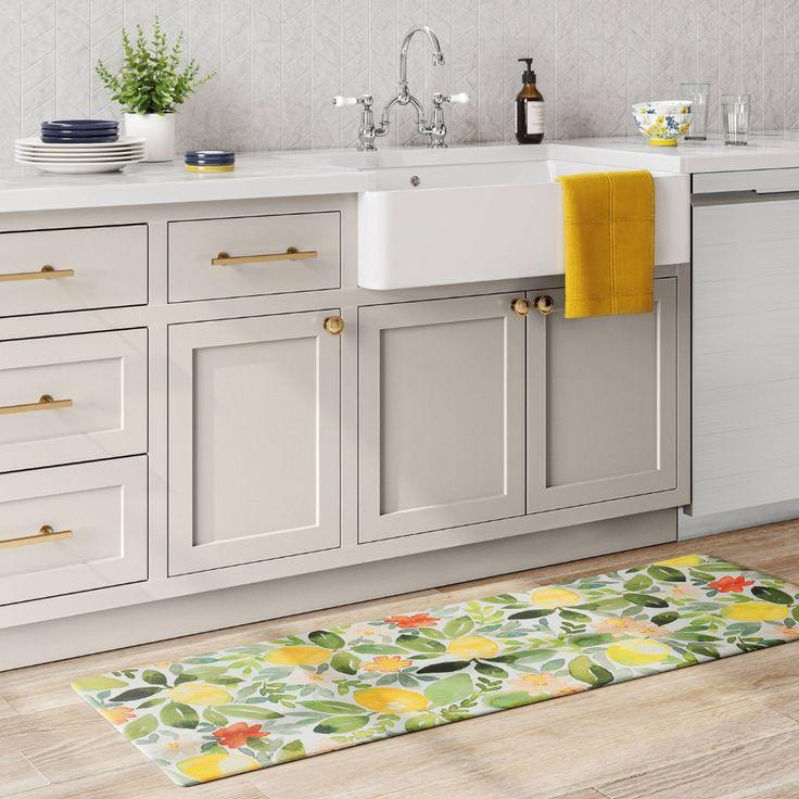 """60""""x20"""" lemons comfort kitchen runner - threshold™ in 2020"""