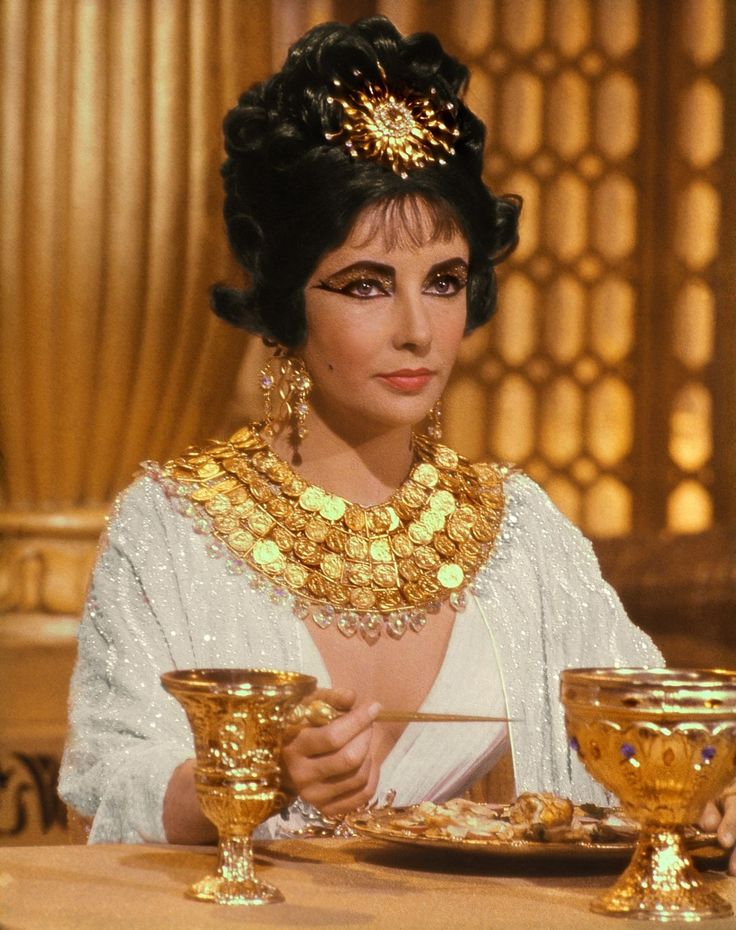 Cleopatra starring Elizabeth Taylor wearing Joseff Hollywood Jewelry