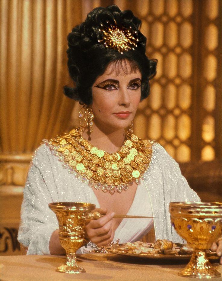 Cleopatra #Elizabeth Taylor wearing Joseff Hollywood Jewelry