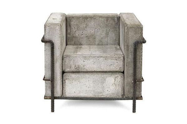lc2: Concrete Chairs, Idea, Le Corbusier, Indoor Outdoor, Outdoor Chairs, Stefan Zwicki, Armchairs, Chairs Design, Concrete Furniture