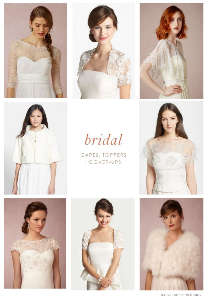 Lace Toppers, Bridal Jackets, and Cover-ups for the Bride