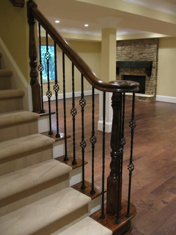 Best Our Actual Basement Remodel Love Flooring And Stairway 400 x 300