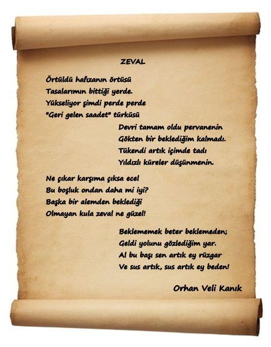 Orhan Veli Kanık (şiir) - SANATKENT