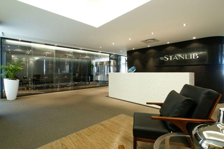 Stanlib Office Reception Area. Interior design by Source Interior Brand Architecture.