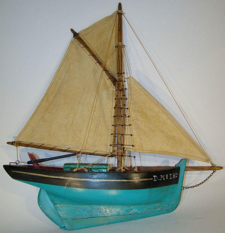 Voilier de travail lm immatricul d n i bis 40cm pond yachts boats pinterest - Voilier de bassin ancien nanterre ...