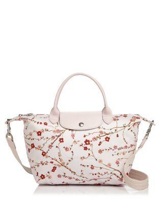 LONGCHAMP Le Pliage Neo Sakura Small Satchel. #longchamp #bags #shoulder bags #hand bags #nylon #leather #satchel #