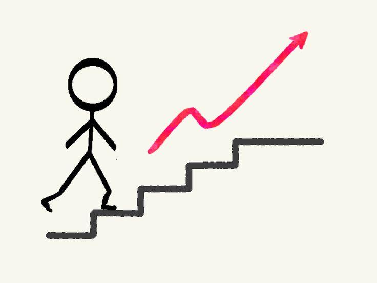 SMARTe Ziele erreichen - der Weg ist das Ziel - Zeichnung