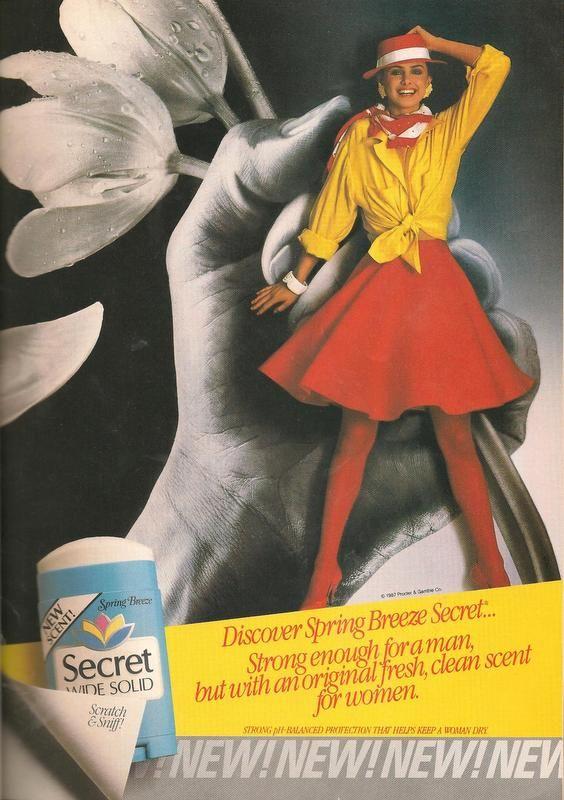 Secret Deodorant Ad from Teen Magazine August 1987. '80s ...