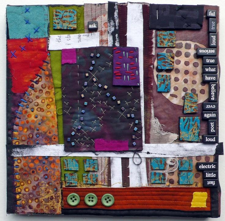 Book Cover Collage Generator : Remnant collage by lynn krawczyk aka fibra artysta