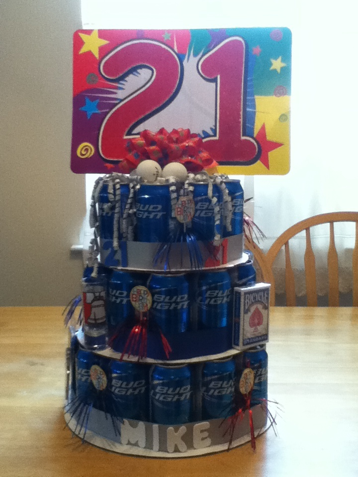 21st birthday beer can cake | Beer cake | Pinterest