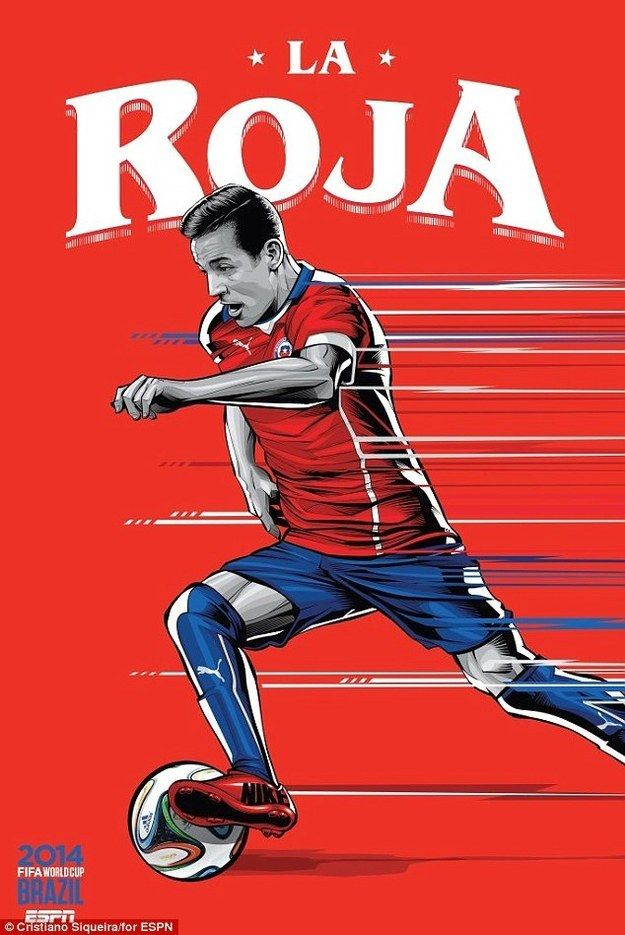 23. Chile | Community Post: An Artist Created 32 Incredible Posters For Each Team In The FIFA World Cup