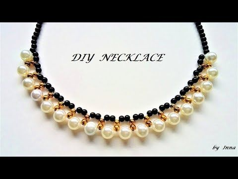 How To Make A Beaded Necklace In Less Than 40 Min Tutorial For Custom Bead Necklace Patterns