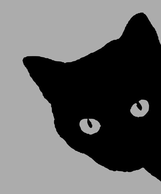 "Cat silhouette 01 by @yamachem, The image is a face of a black cat.The original image is an OCAL clipart called ""Shy Cat Facebook Profile Silhouette"" uploaded by ""yanitof"".Thanks.Indeed, I love a black cat., on @openclipart"