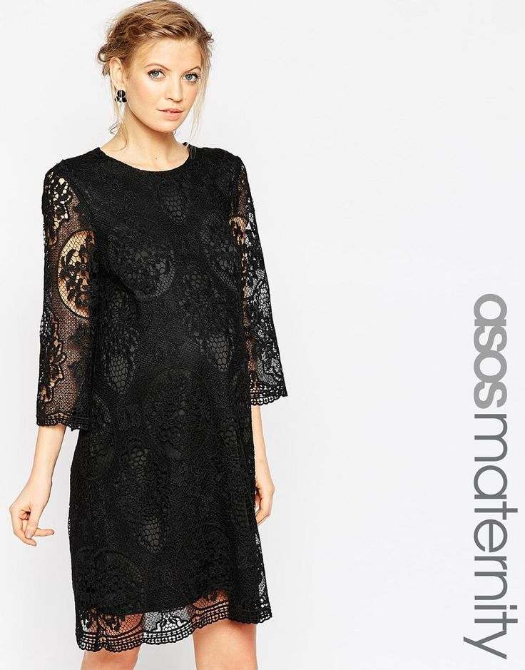 ASOS Maternity Premium Shift Dress In Lace