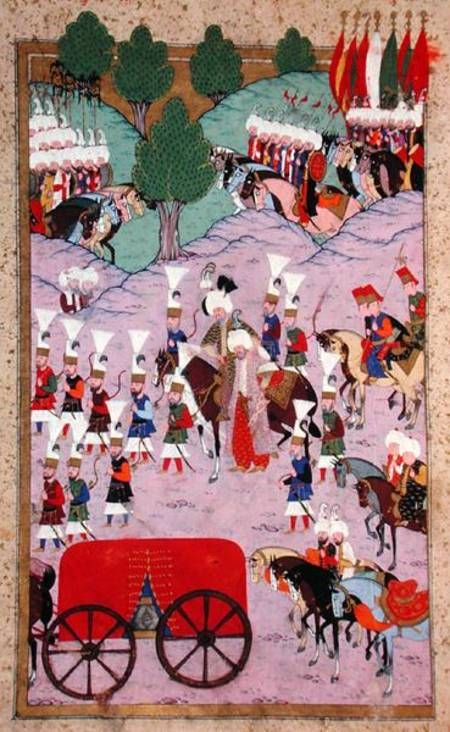 Suleiman the Magnificent, taken ill during the Szigetvar Campaign, 1566