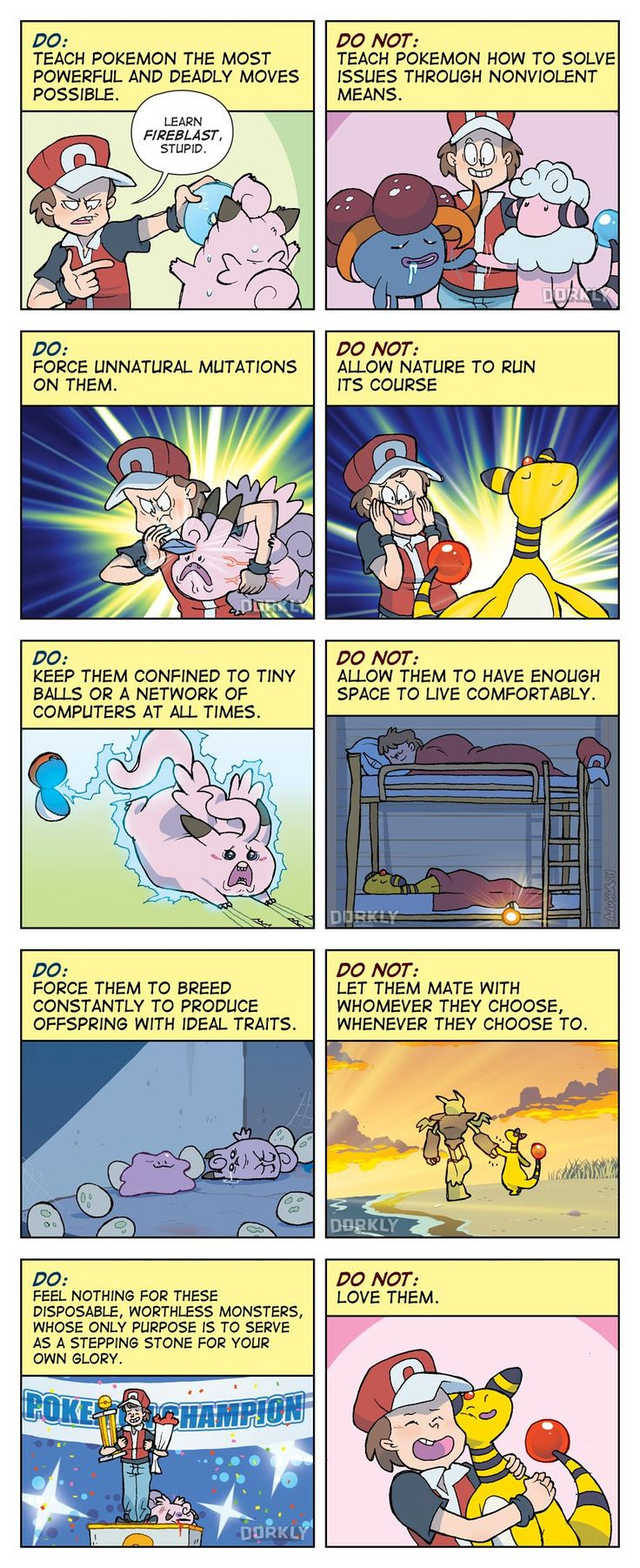 """""""The Do's and Do Not's of Pokemon Ownership"""" #dorkly #geek #pokemon"""