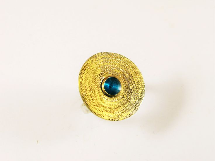 Goldplated sterling silver ring by MK Metallon