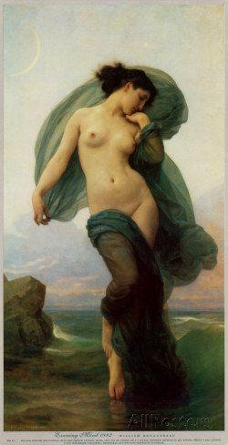Evening Mood William Adolphe Bouguereau  by Vintagemasters on Etsy, $24.95