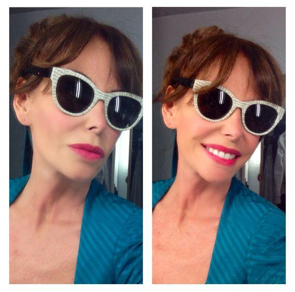 "Lara Dibildos with Paper & Paper eyewear Modelo ""COME ON"". #SUNGLASSES #EYEWEAR #FASHION #HANDCRAFTED #LUXURY #DESIGN http://simplemente-lara.blogs.diezminutos.es/"