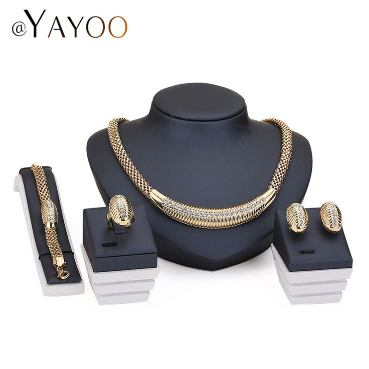 Women Bridal Imitation Crystal Jewelry Sets For Wedding Party African Beads Dress Accessories Earrings Pendants Necklace Rings