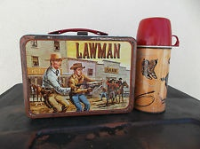 lawman lunch box & thermos from 1961